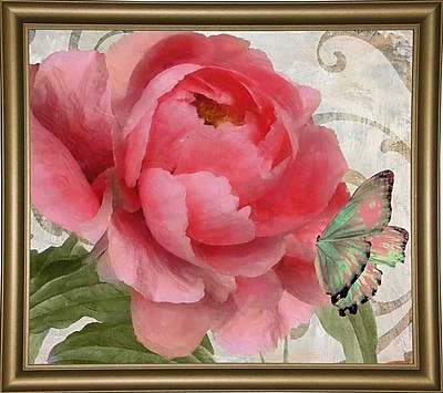 August Grove 'Apricot Peonies II' Graphic Art Print; Canvas