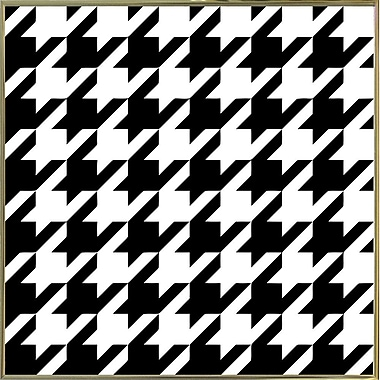 East Urban Home 'Houndstooth II' Graphic Art Print; Metal Gold Framed