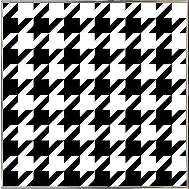 East Urban Home 'Houndstooth II' Graphic Art Print; Metal Silver Framed