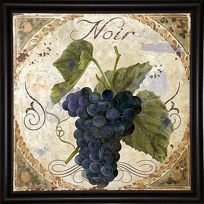 Fleur De Lis Living 'Tuscany Table Noir' Graphic Art Print; Bistro Expresso Framed