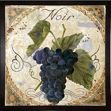 Fleur De Lis Living 'Tuscany Table Noir' Graphic Art Print; Black Medium Framed