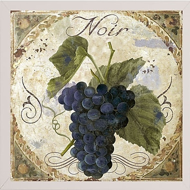 Fleur De Lis Living 'Tuscany Table Noir' Graphic Art Print; White Medium Framed