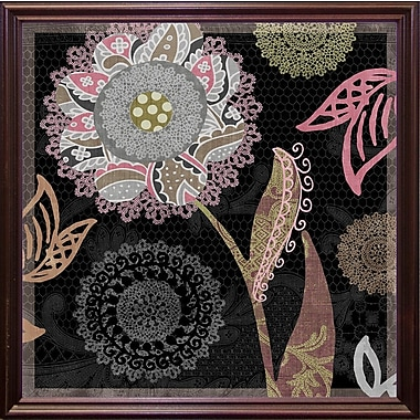 August Grove 'Daisy Cartwheels I' Graphic Art Print; Cherry Grande Framed