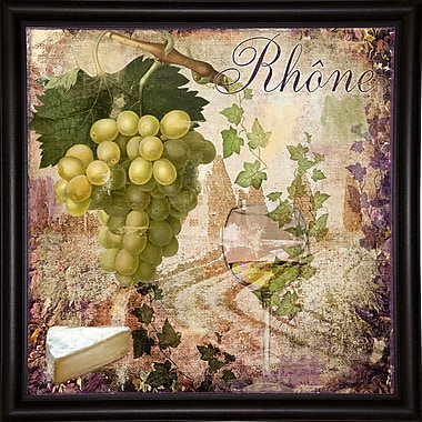 Fleur De Lis Living 'Wine Country VI' Graphic Art Print; Wrapped Canvas Floater Framed