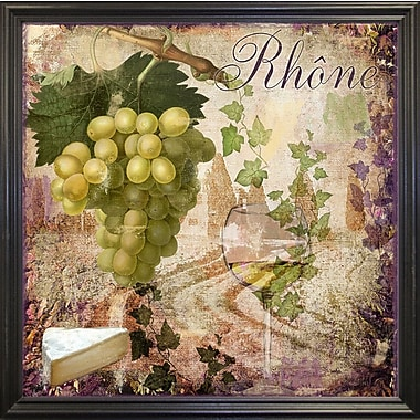 Fleur De Lis Living 'Wine Country VI' Graphic Art Print; Black Grande Framed