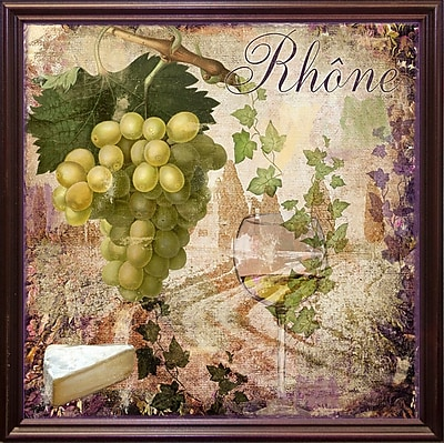 Fleur De Lis Living 'Wine Country VI' Graphic Art Print; Cherry Grande Framed
