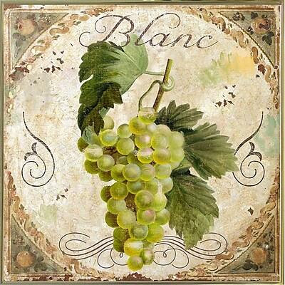 Fleur De Lis Living 'Tuscany Table Blanc' Graphic Art Print; Metal Gold Framed