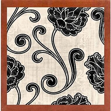 Fleur De Lis Living 'Stylesque I' Graphic Art Print; Canadian Walnut Medium Framed