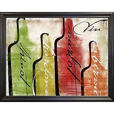 Fleur De Lis Living 'Wine Tasting I' Graphic Art Print; Canvas Black Floater Framed