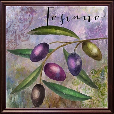 Fleur De Lis Living 'Olivia II' Graphic Art Print; Cherry Grande Framed