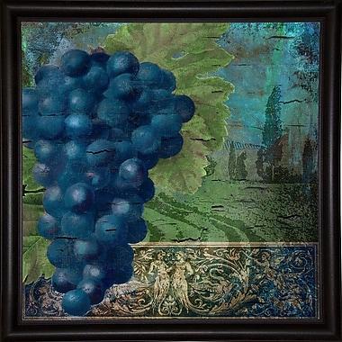 Fleur De Lis Living 'Vino Blu Two' Graphic Art Print; Bistro Expresso Framed