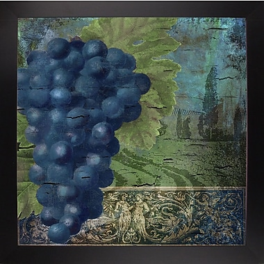 Fleur De Lis Living 'Vino Blu Two' Graphic Art Print; Wrapped Canvas