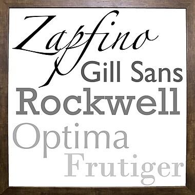 Fleur De Lis Living 'Just My Type I' Graphic Art Print; Cafe Mocha Framed