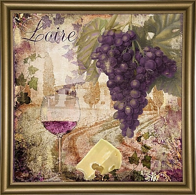Fleur De Lis Living 'Wine Country II' Graphic Art Print; Bistro Gold Framed