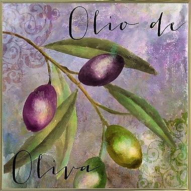 Fleur De Lis Living 'Olivia I' Graphic Art Print; Metal Gold Framed
