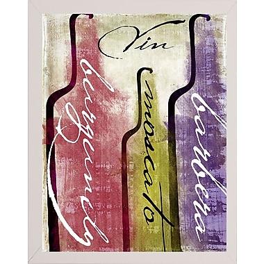 Fleur De Lis Living 'Wine Tasting II' Graphic Art Print; White Medium Framed