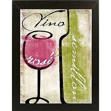 Fleur De Lis Living 'Wine Tasting IV' Graphic Art Print; Brazilian Walnut Medium Framed
