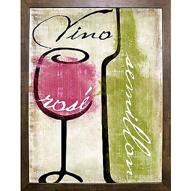 Fleur De Lis Living 'Wine Tasting IV' Graphic Art Print; Cafe Mocha Framed
