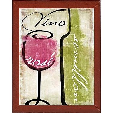 Fleur De Lis Living 'Wine Tasting IV' Graphic Art Print; Red Mahogany Medium Framed