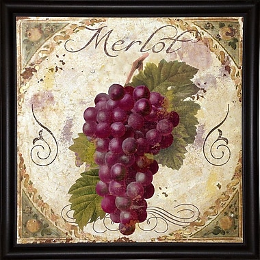 Fleur De Lis Living 'Tuscany Table Merlot' Graphic Art Print; Wrapped Canvas Floater Framed
