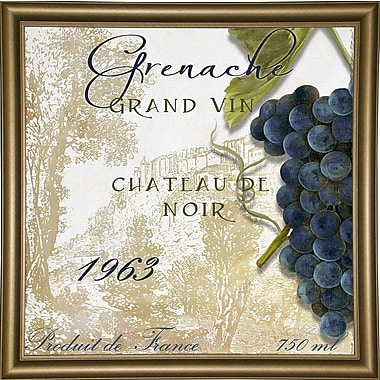 Fleur De Lis Living 'Grand Vin Grenache' Rectangle Graphic Art Print; Bistro Gold Framed