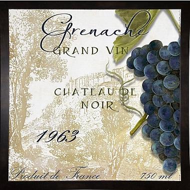 Fleur De Lis Living 'Grand Vin Grenache' Rectangle Graphic Art Print; Black Medium Framed