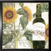 Fleur De Lis Living 'Dolcetto V' Graphic Art Print; Plastic Black Framed