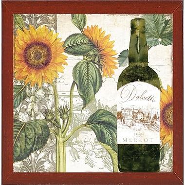 Fleur De Lis Living 'Dolcetto V' Graphic Art Print; Red Mahogany Medium Framed