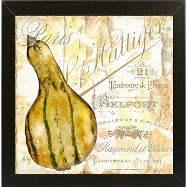 Fleur De Lis Living 'Cafe d'Or VIII' Graphic Art Print; Brazilian Walnut Medium Framed