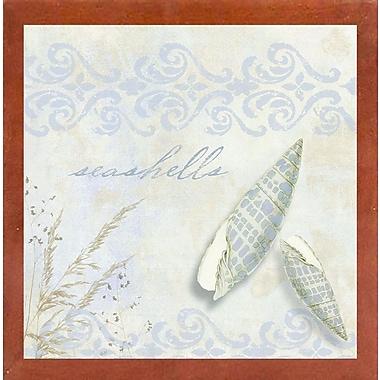 Highland Dunes 'She Sells Seashells II' Graphic Art Print; Canadian Walnut Medium Framed