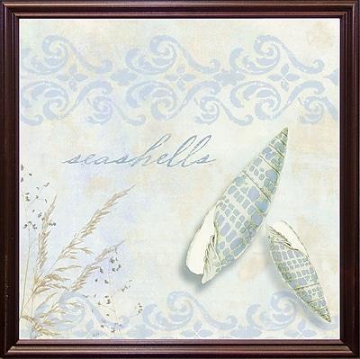 Highland Dunes 'She Sells Seashells II' Graphic Art Print; Cherry Grande Framed