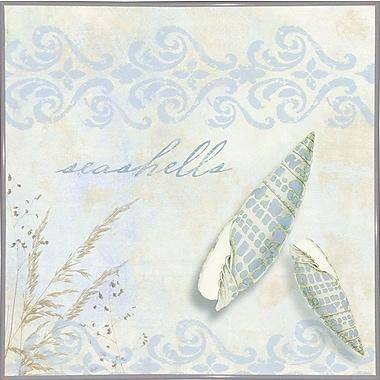 Highland Dunes 'She Sells Seashells II' Graphic Art Print; Metal White Framed