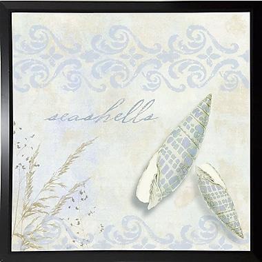 Highland Dunes 'She Sells Seashells II' Graphic Art Print; Plastic Black Framed