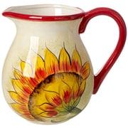 Fleur De Lis Living Margret Ceramic Decorative 112 oz. Pitcher