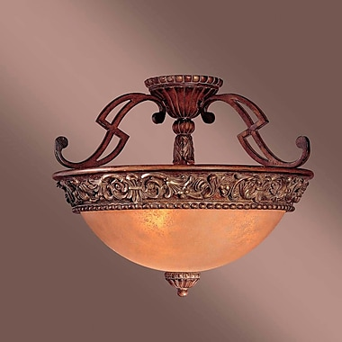 Fleur De Lis Living Winnie 3-Light Semi Flush Mount