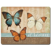 HighlandHome Butterflies Glass Cutting Board
