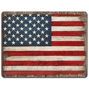 HighlandHome Painted American Flag Glass Cutting Board