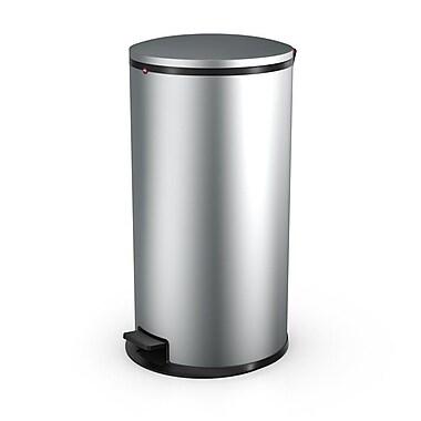 Hailo USA Inc. Pure Steel 44 Gallon Step On Trash Can; Silver