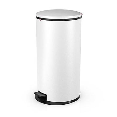 Hailo USA Inc. Pure Steel 44 Gallon Step On Trash Can; White Matte