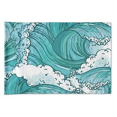 Highland Dunes Richelle Wave Pillow Case; 20'' H x 30'' W