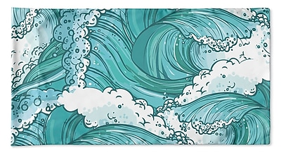 Highland Dunes Richelle Wave Pillow Case; 20'' H x 40'' W