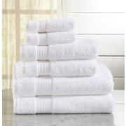 Latitude Run Kosta 6 Piece Towel Set; Optic White