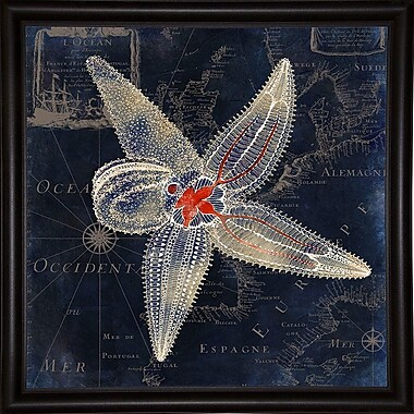 Highland Dunes 'Maritime Blues IV' Graphic Art Print; Canvas