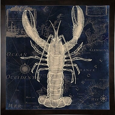 Highland Dunes 'Maritime Blues II' Graphic Art Print; Cafe Espresso Framed