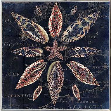 Highland Dunes 'Maritime Blues VII' Graphic Art Print; Metal Silver Framed