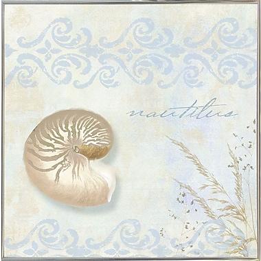 Highland Dunes 'She Sells Seashells I' Graphic Art Print; Metal Silver Framed