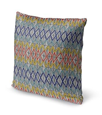 Ivy Bronx Fenster Geometric Throw Pillow; 24'' x 24''