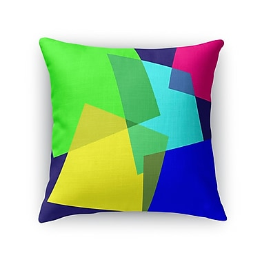 Ivy Bronx Fetters Blocks Accent Throw Pillow; 16'' x 16''