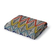 Ivy Bronx Friley Woven Geometric Blanket; 60'' W x 80'' L