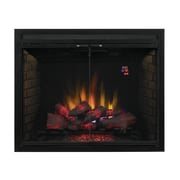 Latitude Run Huckins Dual Voltage Option Traditional Built-in Wall Mounted Electric Fireplace Insert